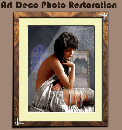 Art Deco Photo Restoration Scaling TS13