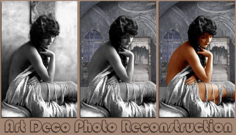Aucholzie AB35 Art Deco Photograph Restoration
